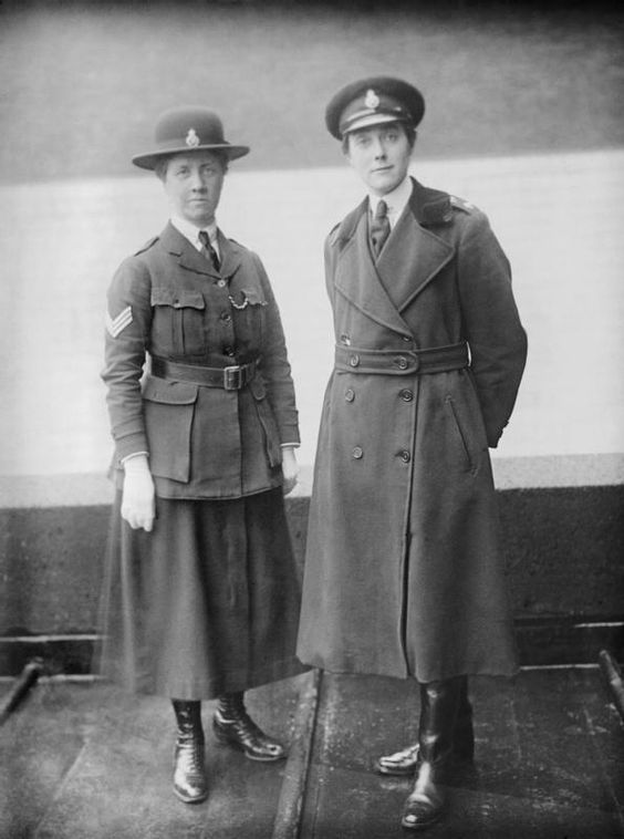 An Inspector and Sergeant of the Women's Police Service during the First World War