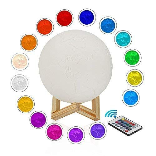 Moon Lamp 5 9inch 3d Print Led 16 Rgb Colors Moon Light Moon Lamp Remote Switch Luna Night Light Color And Brigh Baby Night Light Night Light Light Decorations