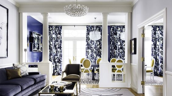 Designer Crush: @Catherine Wong // living rooms, dining rooms, blue rooms