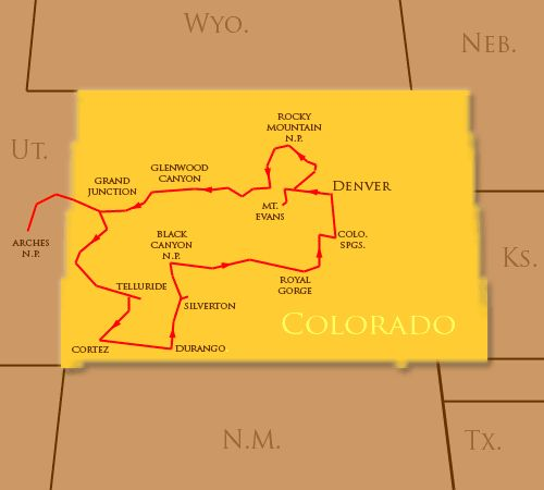 Colorado Road Trip, I want to do this some day, but maybe through Palasade during peach season instead of through Cortez and Durango.