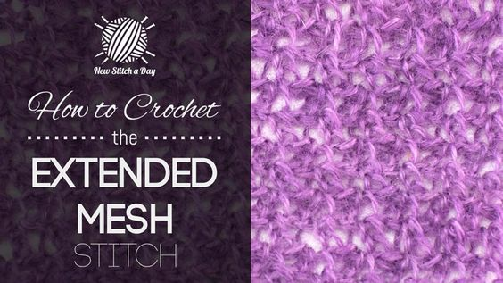 crochet 13 and more how to crochet mesh stitches crochet yarns crochet ...
