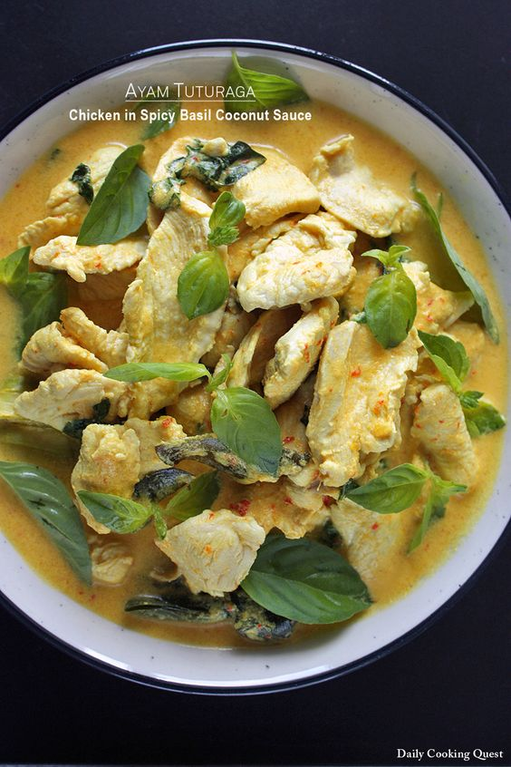 Ayam Tuturaga – Chicken in Spicy Basil Coconut Sauce
