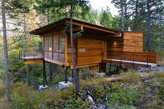 Weekend Cabin: Flathead Lake, Montana. I want to build a getaway for our family like this.