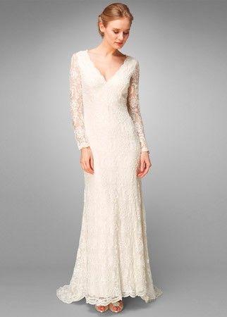 Phase Eight lace beaded wedding dress, £750