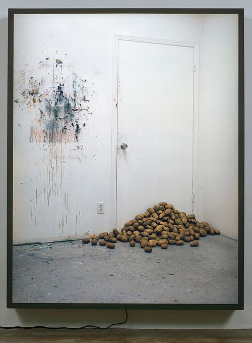 Rodney Graham Potatoes Blocking my Studio Door, 2006 painted aluminum lightbox with transmounted chromogenic transparency 82 x 64 x 7 inches