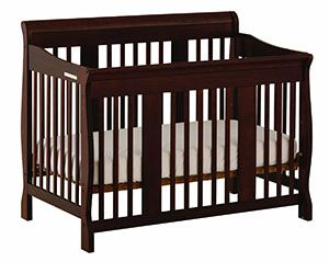 Stork Craft Tuscany four in one Convertible Crib, Espresso