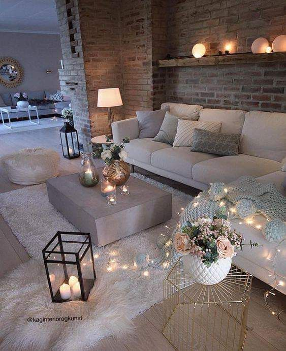 This Living Room Is So Calming And U Can Just Go Take A Nap In Peace Apartment Living Room Design Living Room Decor Cozy Living Room Decor Apartment