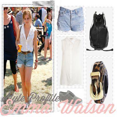 Emma Watson's perfect festival style.