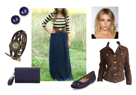 Brown & Blue by amirah-rose on Polyvore featuring WithChic, Todd Oldham, Neiman Marcus, Trina Turk and Kevin Jewelers
