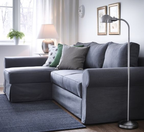 This EKTORP combination allows you to place the chaise lounge to - ikea ektorp gra