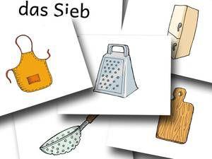 DaZ Material zur Sprachförderung in der Grundschule - Bildkarten Küche