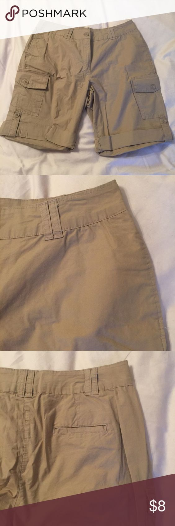 "Convertible khaki cargo shorts Convertible Khaki Cargo Shorts | size 14W | brand Ellos from Woman Within | never worn | 36"" waist 