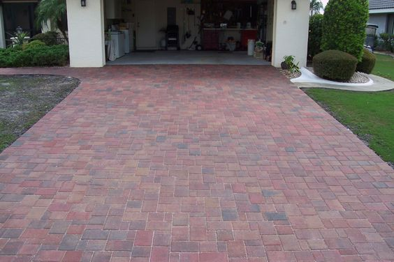 Brick Paver Driveway Red/Tan/Charcoal Call us today for a FREE estimate at 813-926-6504