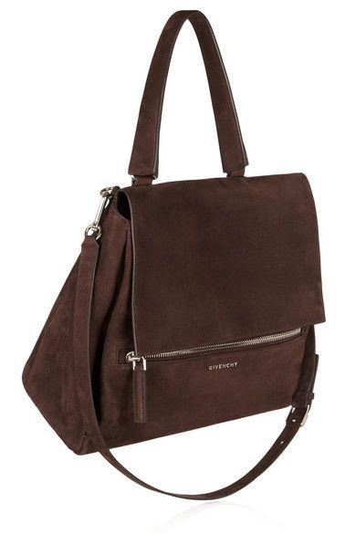 celine trio bag for sale - Givenchy Pandora Flap medium shoulder bag in chocolate nubuck ...