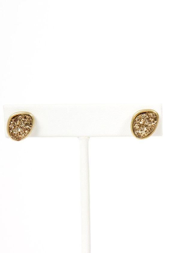 Druzy Textured Earrings
