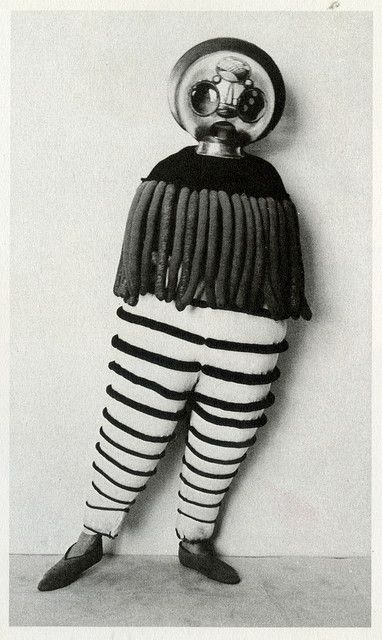 """Costume for the Triadic Ballet from """"The Theater of the Bauhaus"""""""
