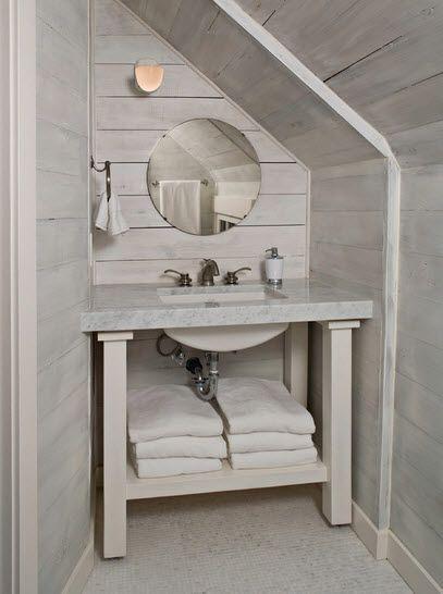 Baño Debajo De Escalera:Como diseñar un cuarto de baño debajo de las escaleras [Modelos