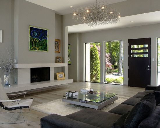 Mid century modern ranch style house design pictures - Ranch house living room decorating ideas ...
