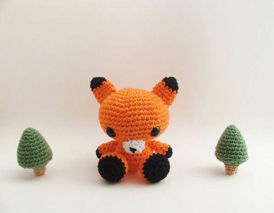 Gehäkelte Fox / Kinder Spielzeug / Ostern von LittleBittyKnitter, $30.00