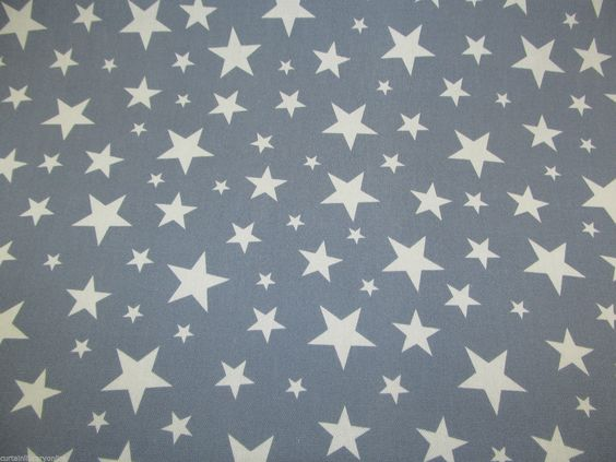 Blue Curtains blue curtains with white stars : Charleston Blue Stars Curtain Fabric / 140 cm Wide A stunning ...