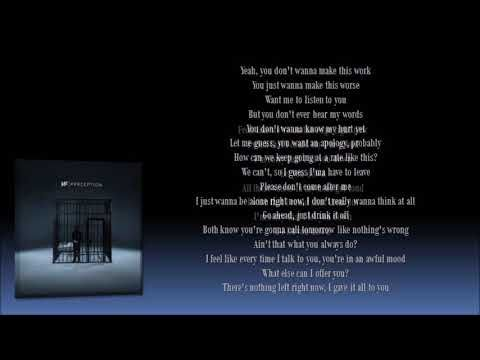 Nf Let You Down Lyrics Youtube Rap Song Lyrics Nf Lyrics Lyrics