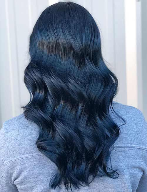 41++ Navy blue curly hair ideas