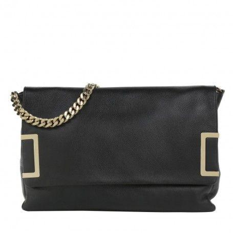 Jimmy Choo Tasche – Ally SLQ Shoulder Bag Black – in schwarz – Henkeltasche für Damen