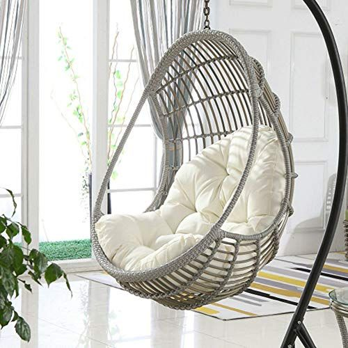 Ollolccy Large Swing Chair Cushion Hanging Basket Seat Cushion Not Slip Thicken Chair Cushion Wicker Rattan Hanging In 2020 Swinging Chair Chair Cushions Seat Cushions
