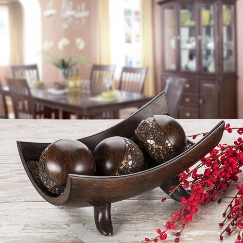 Cole Grey Metal Wall Décor Reviews Wayfair Decorative Bowls Decorative Bowl Centerpiece Dining Room Table Decor