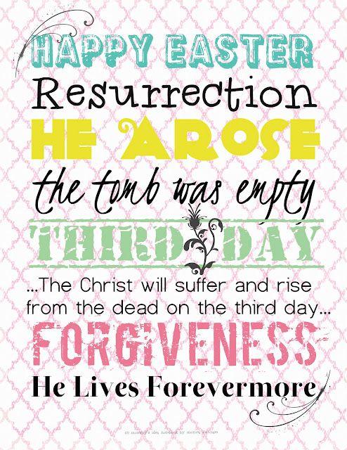 FREE Easter Printable!