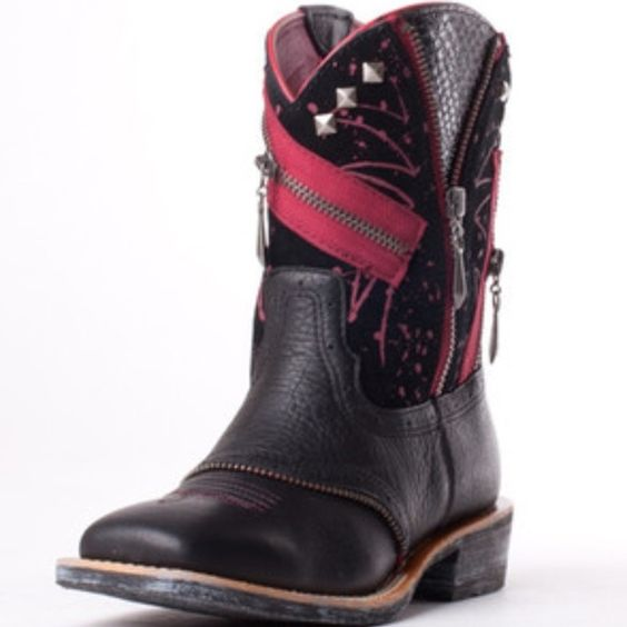 Ariat fat baby black red cowgirl boots deertan nwt | Shopping ...