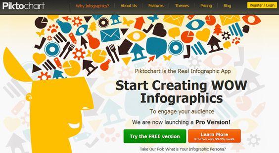 """Utile :) : """"6 outils pour créer vos infographies facilement"""""""