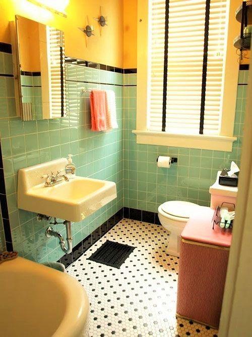 Orte Zum Entspannen Und Wohlfuhlen Gelbe Badezimmer Vintage Einrichtungen Badezimmerfliesen