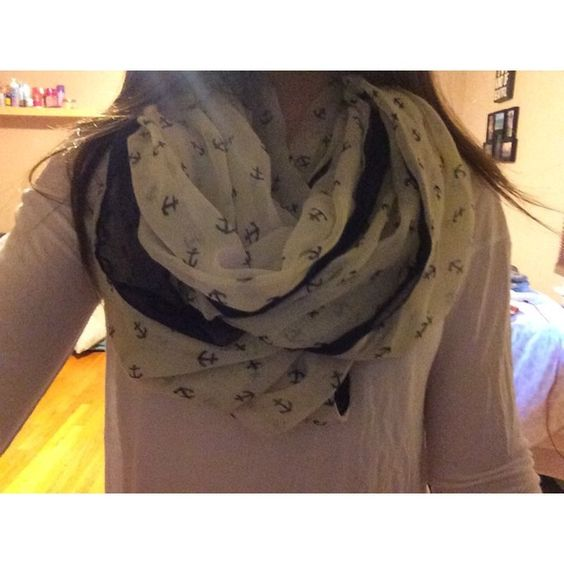anchor infinity scarf never worn Charlotte Russe Accessories