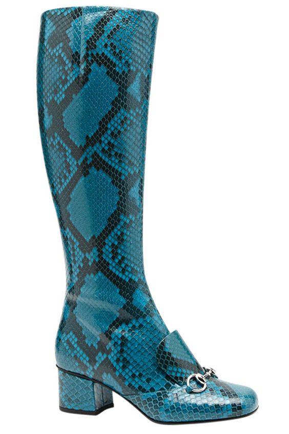 Gucci boots, $3,350, shopBAZAAR.com.   - HarpersBAZAAR.com