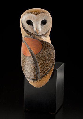 Barn Owl by Rex Homan, Māori artist/sculptor ✿≻⊰❤⊱≺✿