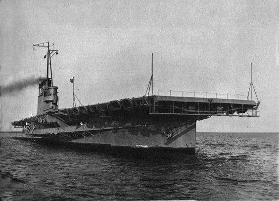 USS Wolverine - one of two coal-fired paddle-wheeled lake-steaming aircraft carriers