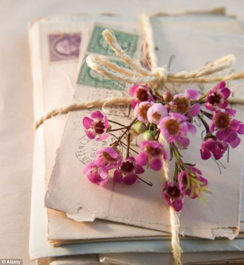 wax flowers and letters