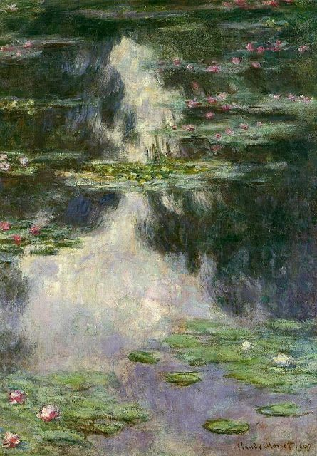 Claude Monet 1907 Water Lilies oil on canvas: