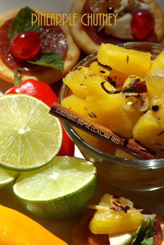 ... Indian Spices / Pineapple sweet chutney   Chutney, Indian and