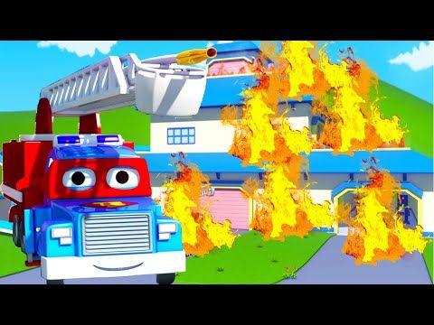 Carl Si Truk Pemadam Carl Si Truk Super Di Kota Mobil L Truk Kartun Untuk Anak Anak Youtube Untuk Anak Anak Anak Kartun