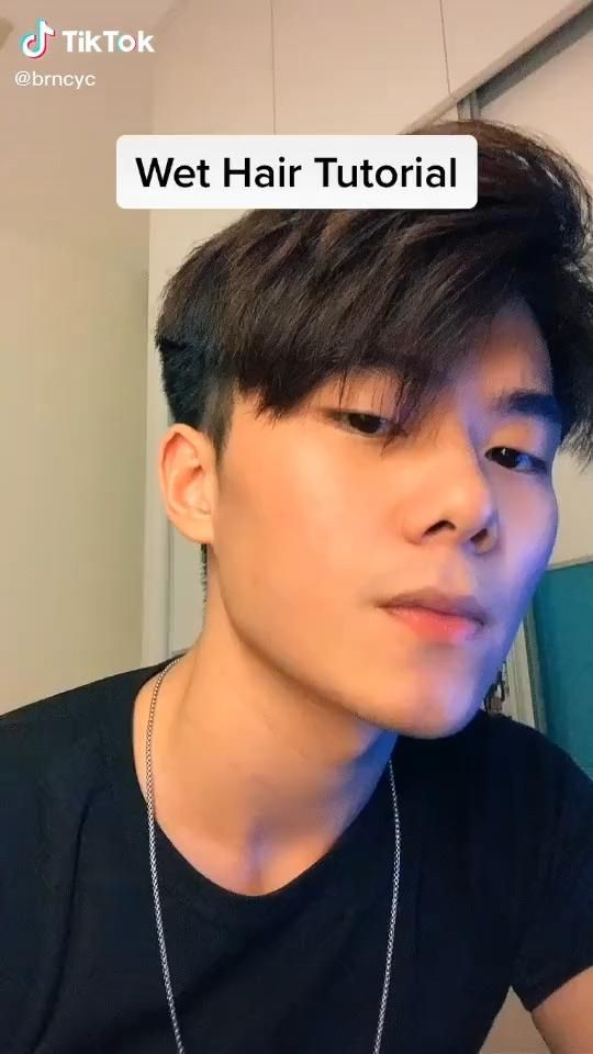 Are You A Guy And Want To Achieve That Wet Hair Look Watch This Mens Hairstyle Wet Hair Look Beauty In 2021 Asian Men Hairstyle Men Haircut Styles Korean Haircut Men