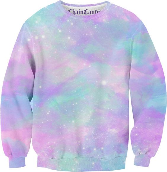 Dusted pastel galaxy allover printed sweatshirt to be for Pastel galaxy fabric