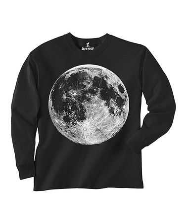 Another great find on #zulily! Black Moon Tee - Kids #zulilyfinds