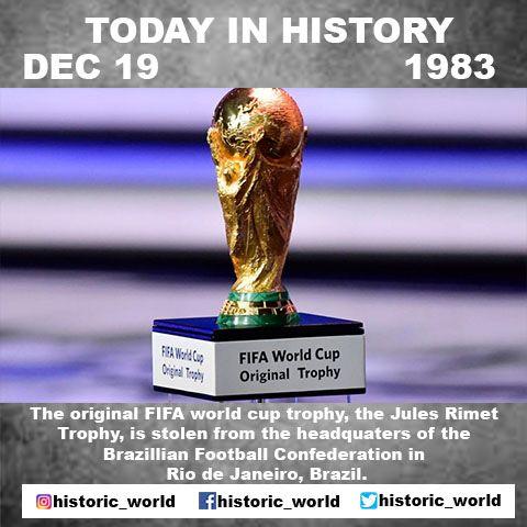 Jules Rimet Jules Rimet Trophy Today In History World Cup Trophy