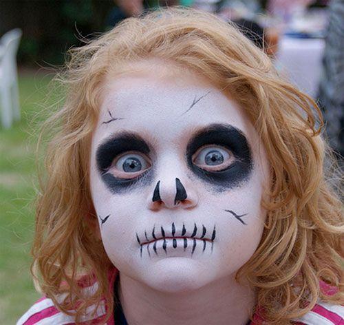 Trucco di Halloween per bambini: versione del teschio n.2