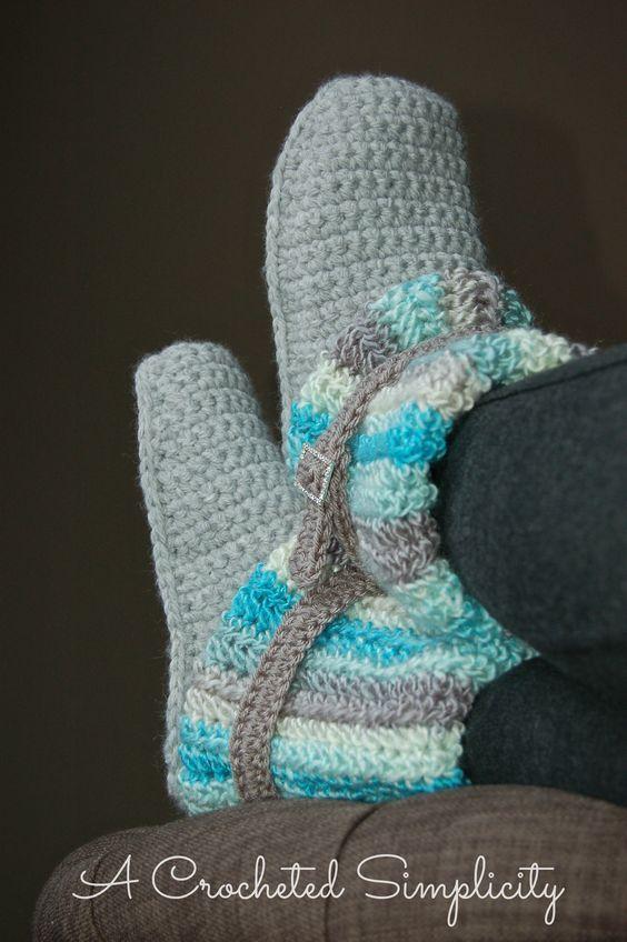 Die besten 17 Bilder zu Crochet: Adult Footwear auf Pinterest ...