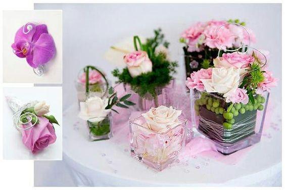 Rosendekoration im glas  Tischdekorationen Vintage und Strand ...