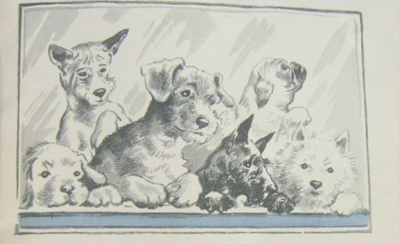 """""""The Three Puppies"""" written and illustrated by Winifred Martin (https://www.etsy.com/listing/127438483/rare-the-three-puppies-by-winifred?ref=shop_home_active)"""