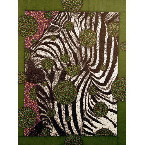 "Art Print ""Zebra Face"" 8x10 Reproduction. $24.00, via Etsy."